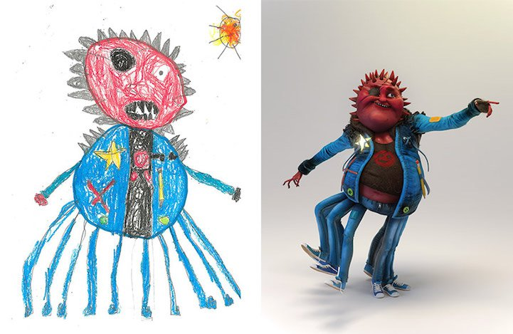 Monster Project drawing Katie Johnson10