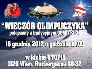 Oplatek i Wieczór Olimpijczyka 2012