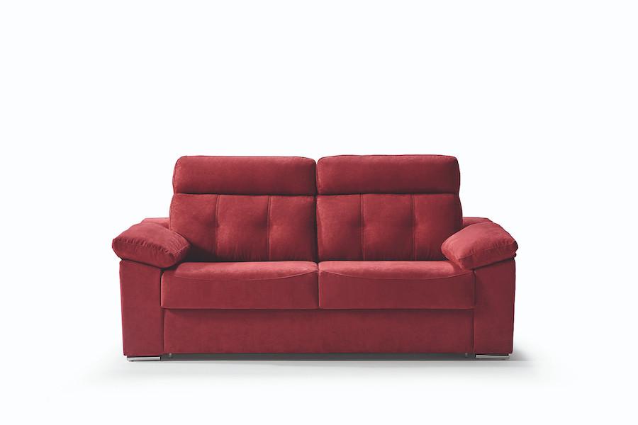sofá cama rojo