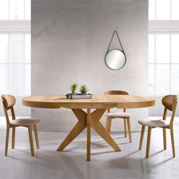 Mesa de comedor extensible redonda Marina de Muebles Polque