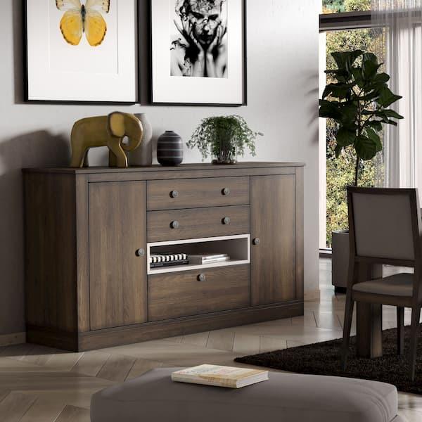 aparador ecomadera roble teñido muebles polque