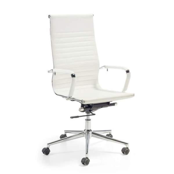 Silla de oficina N56 alta en blanco de muebles polque