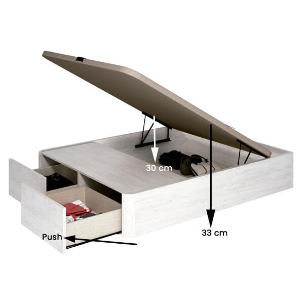 Detalle Canapé Nox ártico de Muebles Polque