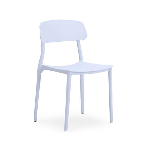 silla blanca de platico resistente muebles polque