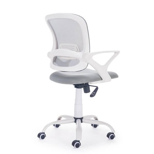 Silla escritorio Siba gris-blanco