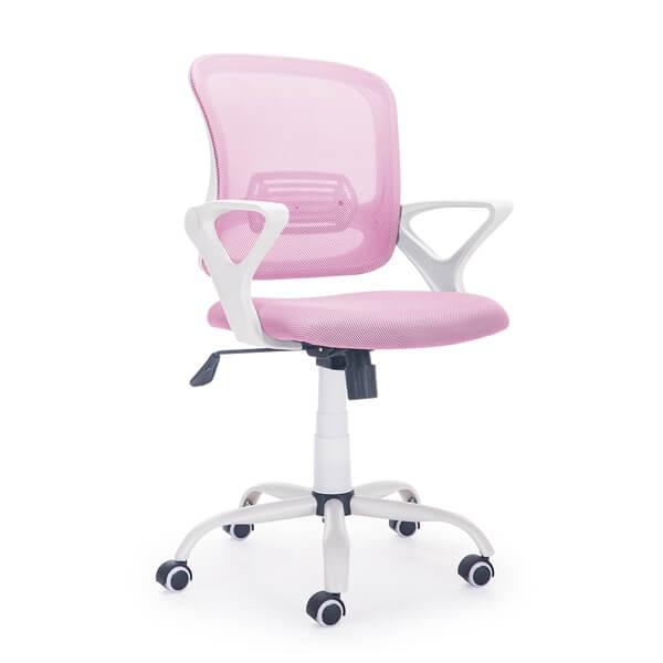 Silla escritorio Siba rosa-blanco