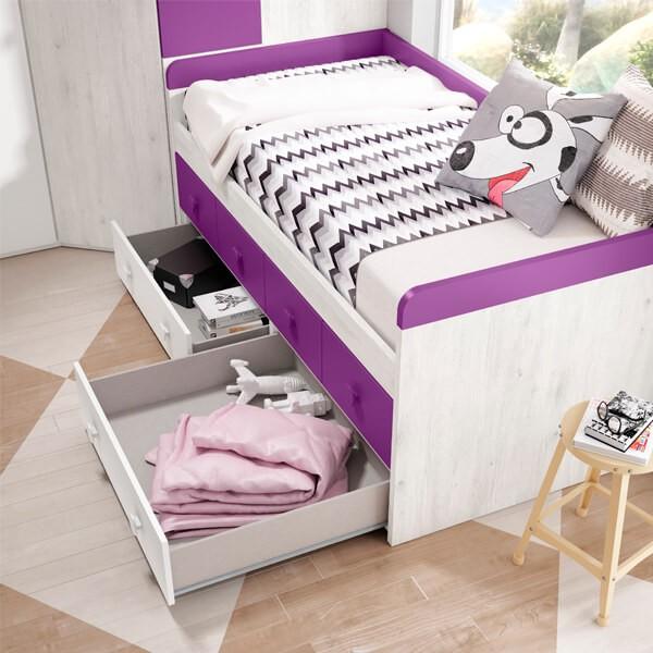 Detalle cama Juvenil 005 Muebles Polque
