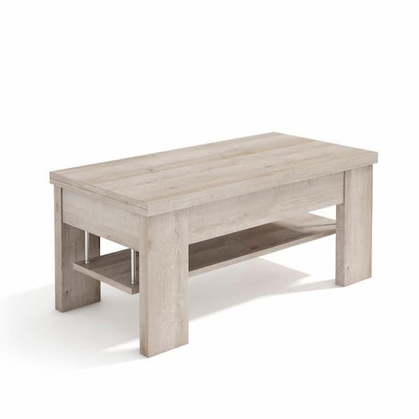 Mesa de centro elevable extensible muebles polque
