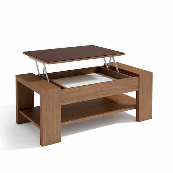 Mesa de centro elevable madera muebles polque