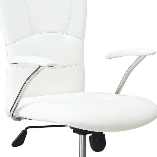 sillas despacho simil piel blanca muebles polque
