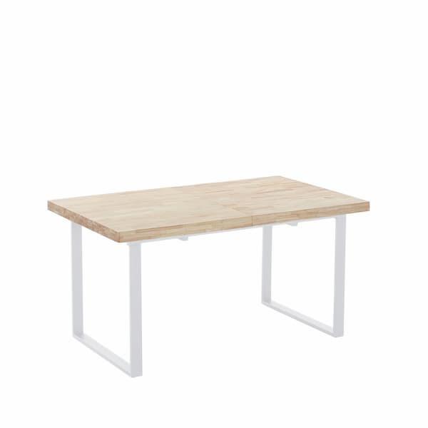 Mesa de comedor extensible de roble estilo industrial muebles polque