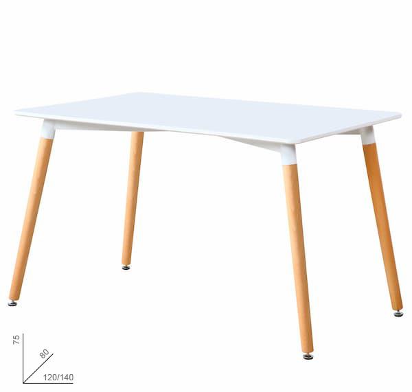 mesa de comedor blanca muebles polque