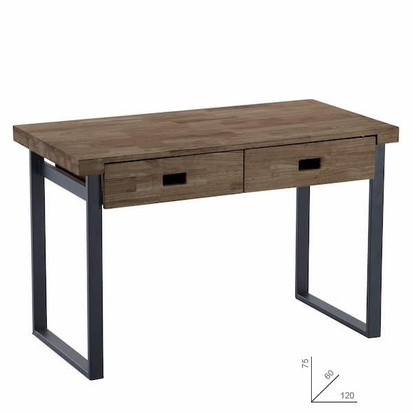 mesa de estudio de roble estilo industrial muebles polque