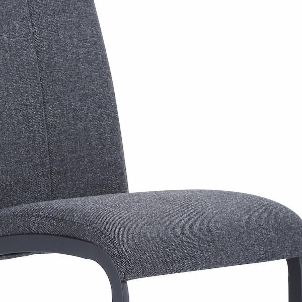 silla tapizada respaldo alto gris marengo muebles polque