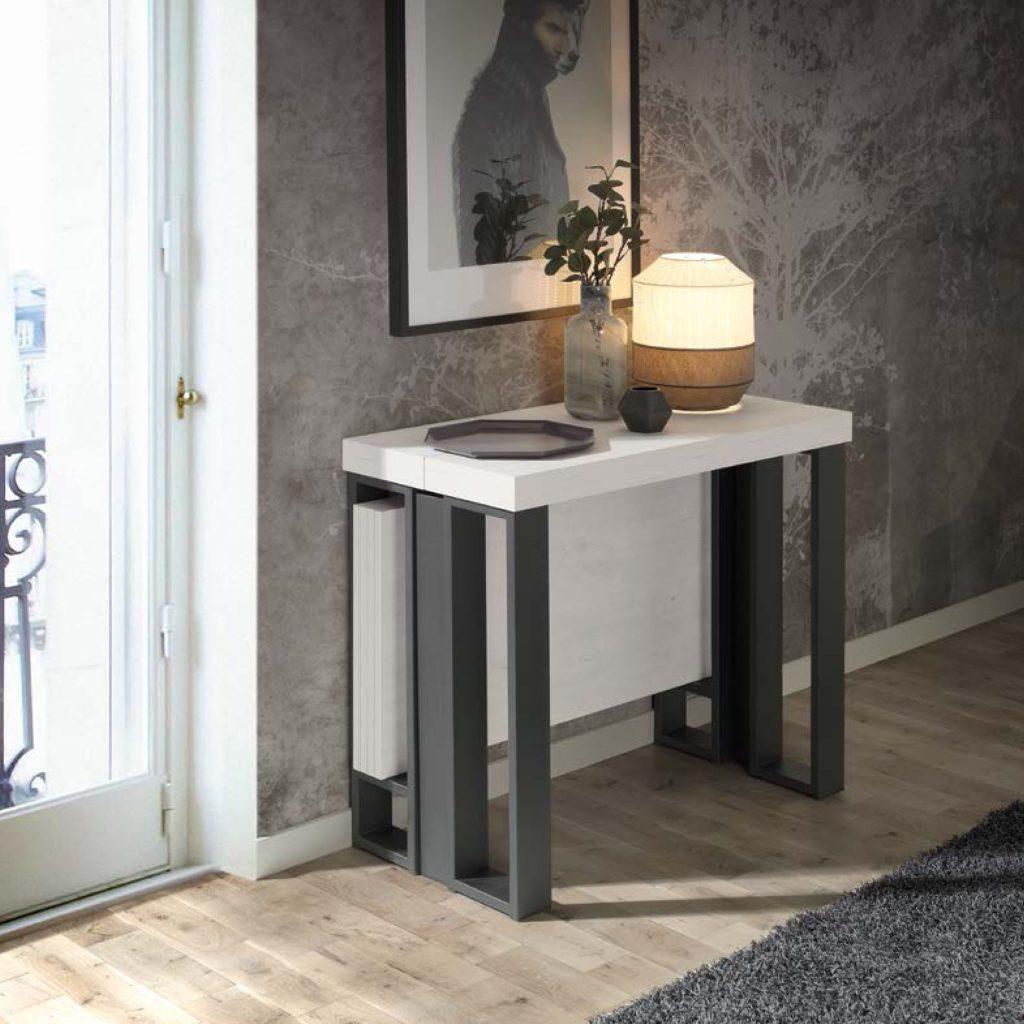 Consola extensible a mesa de comedor muebles polque