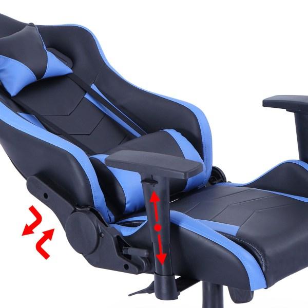 Silla gamer pro azul y negro