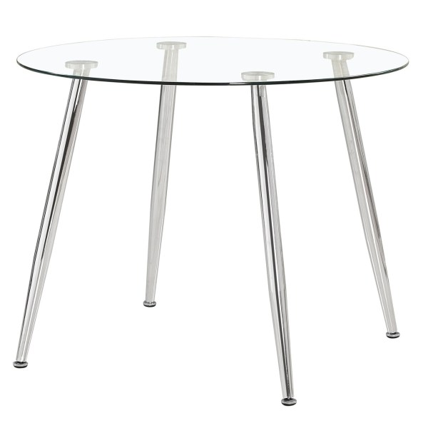 Mesa de cristal redonda Dane
