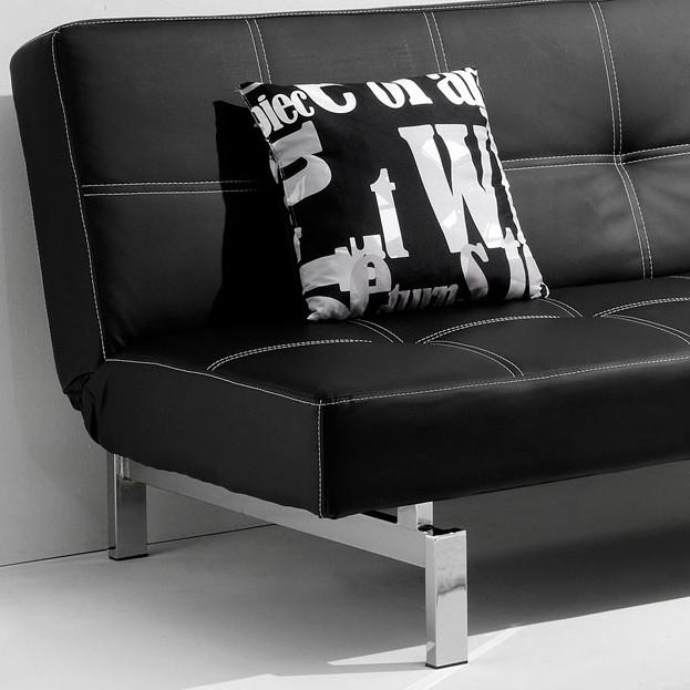 sofá cama negro clic clac