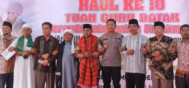 Kapolres Simalungun Pimpin Pengamanan Acara HAUL ke – 10 Tuan Guru Batak Serambi Babussalam Simalungun