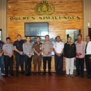 Kapolres Simalungun Ikuti Vidcon Rakor Lintas Sektoral Bidang Operasional Tahun 2019