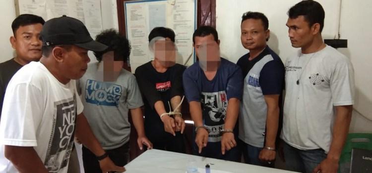Polsek Bangun Tangkap Tiga Pria Penyalahgunaan Narkotika Sabu
