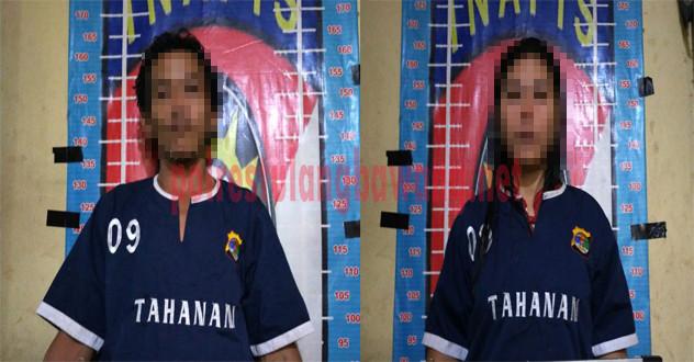 Kakak beradik bandar narkotika berinisial NM (39) dan WU (31) yang ditangkap Polisi