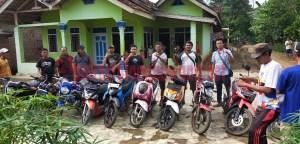 11 unit sepeda motor yang berhasil disita dari pelaku curanmor Heriyanto als Slamet