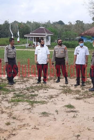 Tim dari Ro Rena Polda Lampung cek lokasi Pos Pol Tugu Gajah