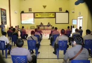 Wakapolres Kompol Eko Nugroho, SIK saat memimpin Latpra Ops Bina Kusuma Krakatau 2020 di GSG Wira Satya Mapolres Tulang Bawang