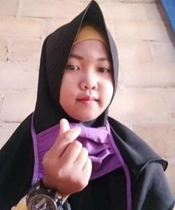 Foto Rahma Septiana (13), anak perempuan yang hilang, warga Kampung Panca Tunggal Jaya, Kecamatan Penawar Aji
