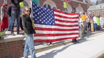Tax Day protest in Peterborough, NH