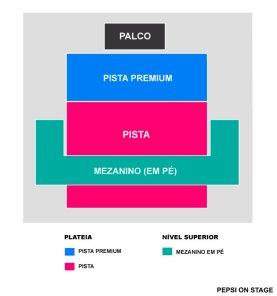 Mapa Pepsi on Stage - Porto Alegre