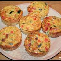 Clafoutis courgette, oignon, poivron rouge et brocoli