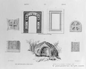 Пещерные города Крыма. Рисунки из альбома графа А.С. Уварова