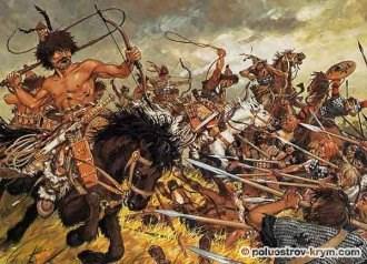 Гунны в бою