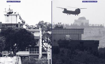 Evacuación de embajadores americanos de Saigón y Kabul.