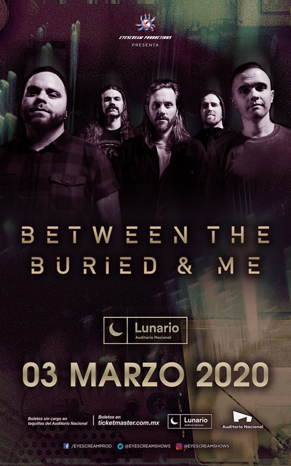 between the buried and me en cdmx 2020
