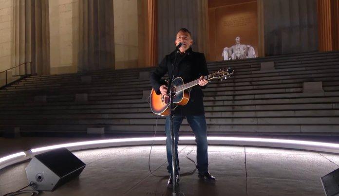 Bruce Springsteen en la toma de Joe Biden