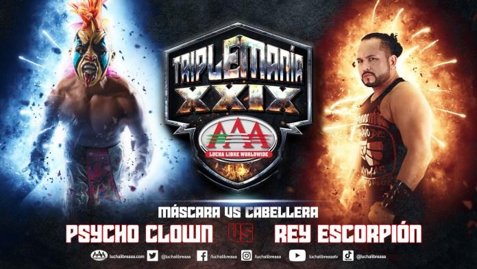 Psycho Clown y Rey Escorpión en Triplemanía XXIX