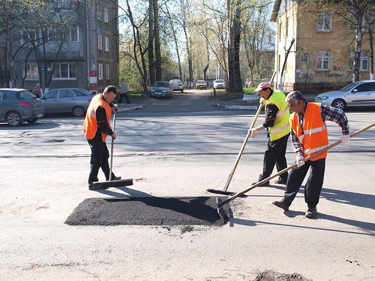Ремонт дорожного покрытия в г. Brusy (Гданьск)