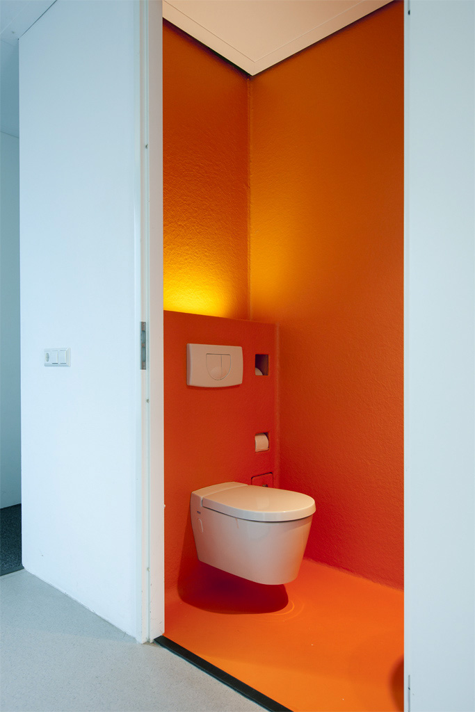 morden hippe wc orange polyester