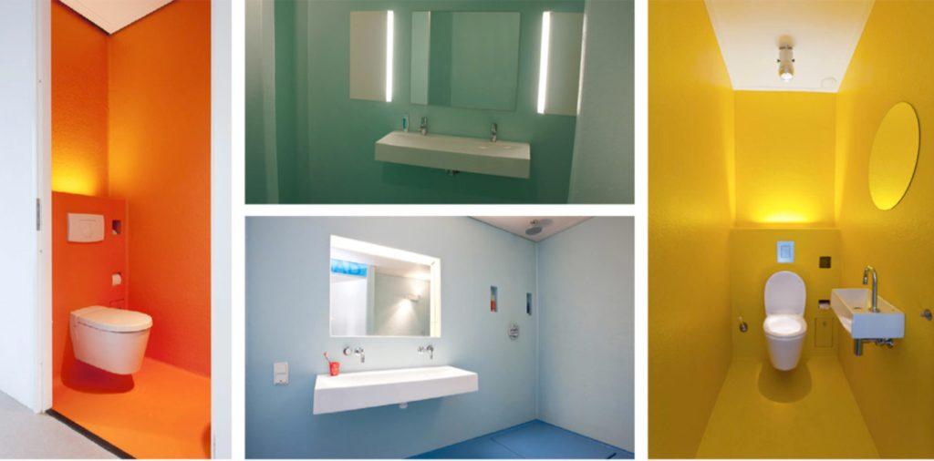 naadloos schoonmaken afwerking wc polyester badkamer