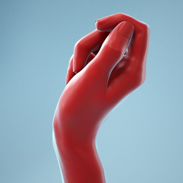 Relaxed Fist Realistic Hand