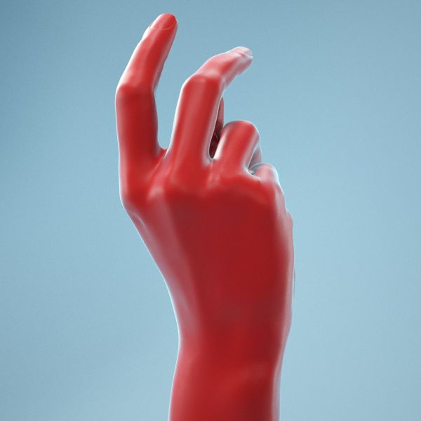 Relaxed Grip Realistic Hand