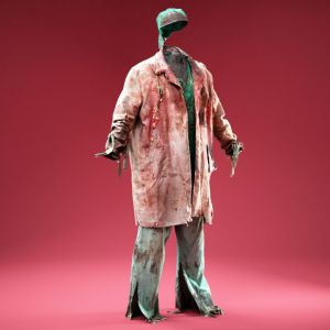 Horror Docter in Bloody Ripped Coat