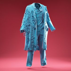 Marine Fishnet Coat Cosplay Costume