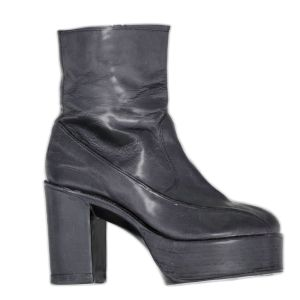 Vintage Boot Black Leather