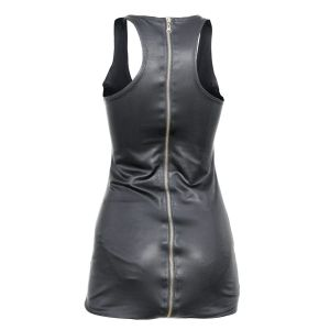 Vintage Dress Leather Zipper