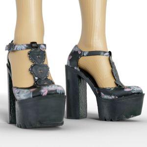 Vintage Heels Black Tall