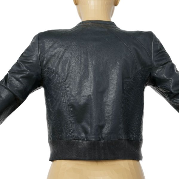 Vintage Jacket Black Leather Zipper